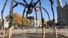 The National Gallery's iconic spider is getting a new, weatherproof lighting system.