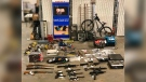 Stolen property seized in Grande Prairie. (Source: RCMP)