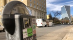 The City of Regina has introduces PayByPhone for downtown parking. (Katherine Hill / CTV News Regina)