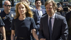 Actress Felicity Huffman reports to federal prison in Dublin, California, on Oct. 15, 2019. (Joseph Prezioso / AFP / Getty Images)