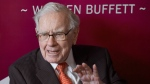 Warren Buffett, Chairman and CEO of Berkshire Hathaway, speaks during a game of bridge following the annual Berkshire Hathaway shareholders meeting in Omaha, Neb., Sunday, May 5, 2019. A company controlled by American investment guru Warren Buffett says it will break ground on a $200-million, 117.6-megawatt wind farm in southeastern Alberta next year. THE CANADIAN PRESS/AP, Nati Harnik