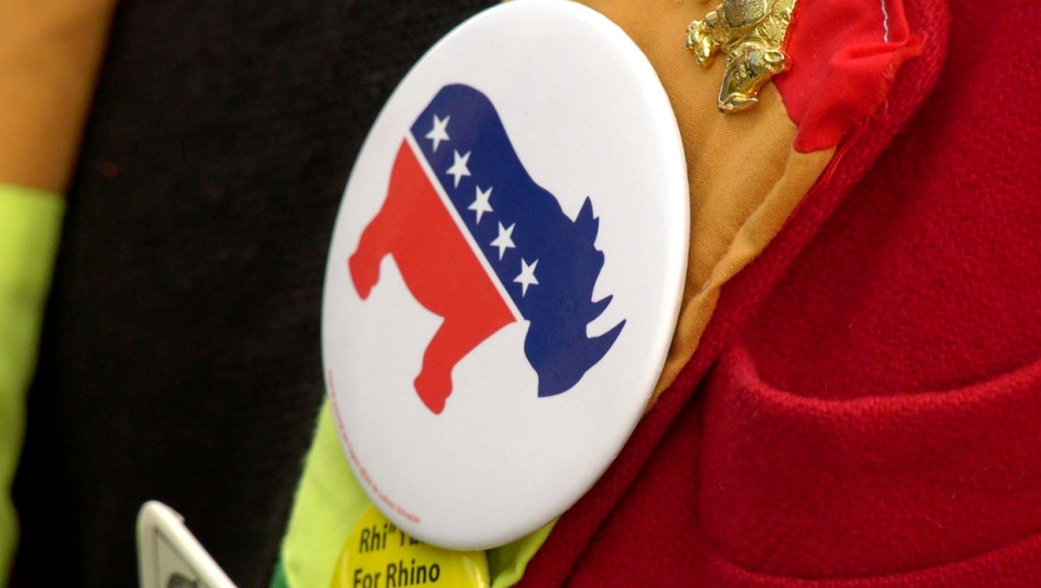 Rhino, Party, button