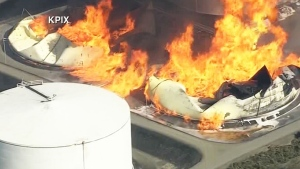 LIVE: Aerials of refinery fire in California