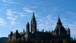Parliament Hill is seen in Ottawa on Thursday, October 10, 2019. Canadian go to the polls on October 21 to elect a new federal government. THE CANADIAN PRESS/Paul Chiasson
