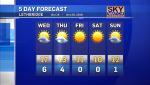 Chinook skies, warm temperatures through the week