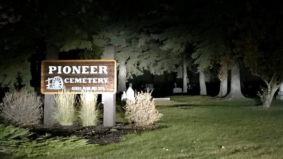 Pioneer Cemetery on Highway 16A near Spruce Grove. Tuesday Oct.15, 2019 (CTV News Edmonton)