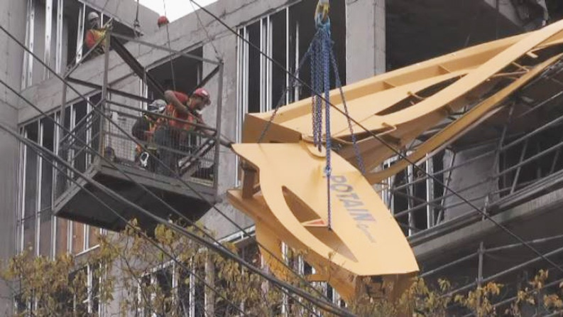 Toppled construction crane in Halifax finally getting taken down