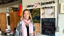 Lazy Daisy Cafe owner Dawn Chapman says she believes low- and middle-class residents are already taxed enough. (CTV News Toronto / Natalie Johnson)