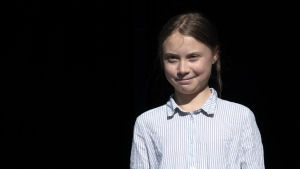 Swedish activist and student Greta Thunberg walks off the stage after addressing the Climate Strike in Montreal on Friday, Sept. 27, 2019. The Alberta government won't seek out a meeting with teen Swedish climate activist Greta Thunberg, but Environment Minister Jason Nixon says he hopes she takes the time to learn about the province's oil and gas industry. THE CANADIAN PRESS/Paul Chiasson