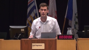 Port Moody Mayor Rob Vagramov is seen at a council meeting in this CTV News file image.
