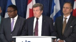 Toronto Mayor John Tory speaks to reporters on Oct. 16, 2019. (CP24)