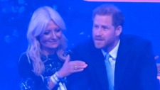 Prince Harry gets emotional on stage