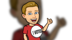 An example of one of the Bitmoji stickers Canadian Snapchat users will be able to use on Election Day. (Snapchat)