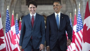 Obama urges Canadians to re-elect Trudeau