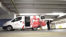 Blood being loaded into a van for delivery. (CTV News Edmonton)