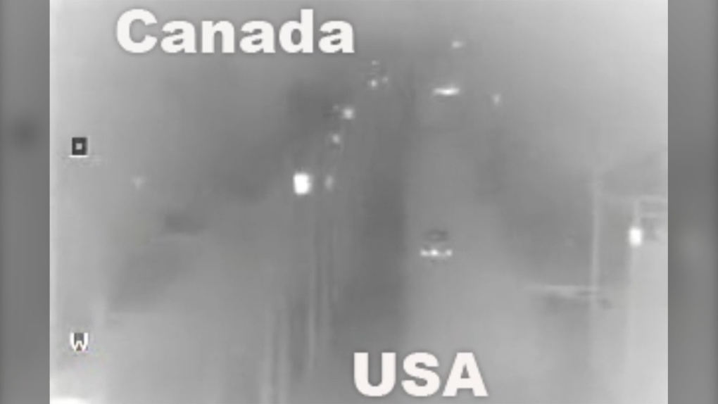 'Accidental' border crossing? Video shows British family driving across B.C. ditch into U.S