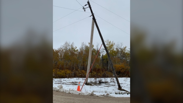 storm damage and warming centre in West Interlake
