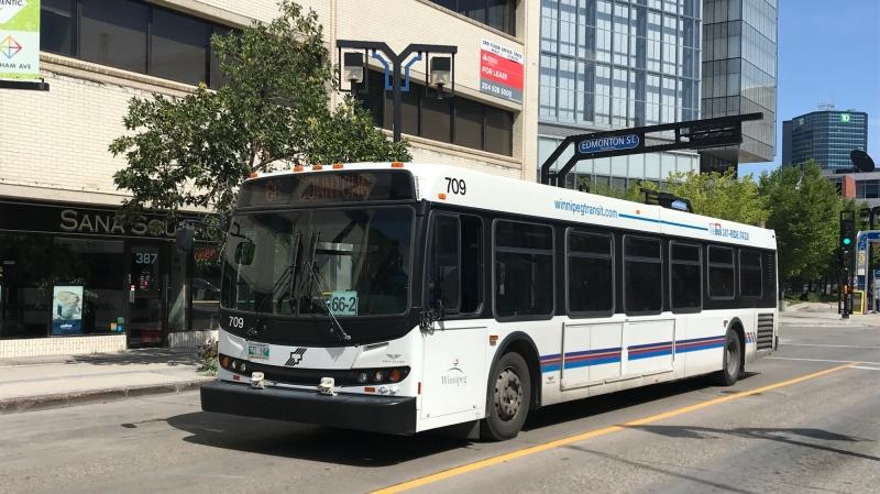 (CTV News file image of a Winnipeg Transit bus.)