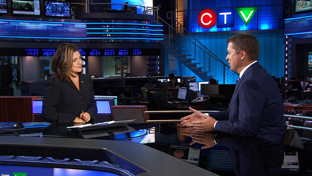 Debrief at the Desk: Lisa LaFlamme speaks with Conservative Leader Andrew Scheer