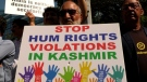 Kashmiri-Calgarians protest to have communications with Kashmir, which were cut off for 75 days, restored.