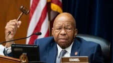 House Oversight and Reform Committee Chairman Elijah E. Cummings, D-Md., considers whether to hold Attorney General William Barr and Commerce Secretary Wilbur Ross in contempt for failing to turn over subpoenaed documents related to the Trump administration's decision to add a citizenship question to the 2020 census, on Capitol Hill in Washington, Wednesday, June 12, 2019. (AP Photo/J. Scott Applewhite)