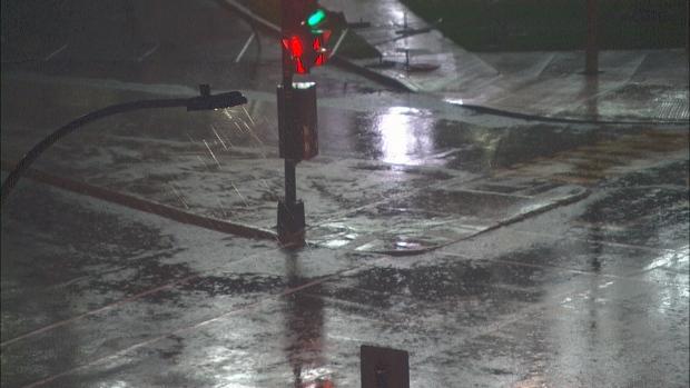 Heavy rain fell in Montreal on Oct. 17, 2019