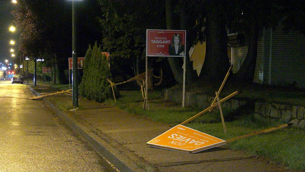 NDP election signs damaged in East Vancouver