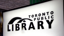 A sign at a Toronto Public Library branch is seen in this undated file image. (CTV News Toronto)