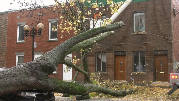 Hydro crews are working to restore power in Montreal after storm