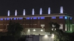 New lights on the Rossdale Power Plant. (Source: City of Edmonton)