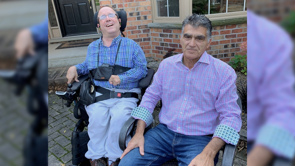 Gary Jazey and his son Damon are seen in London, Ont. on Thursday, Oct. 17, 2019. (Celine Zadorsky / CTV London)