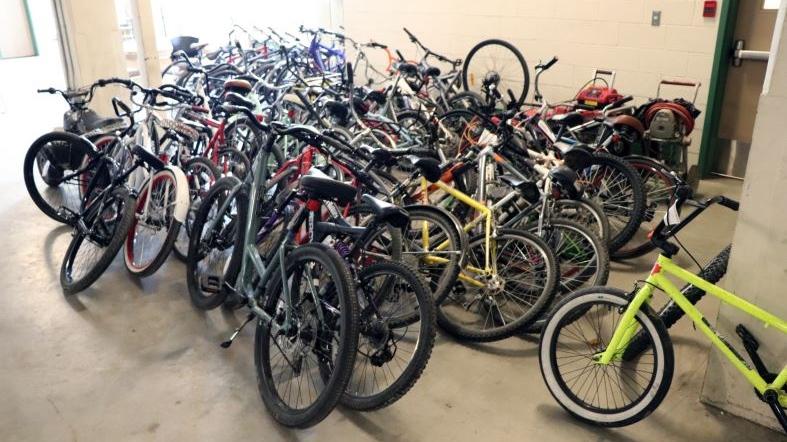Regina Police seized 44 stolen bikes from Darcy Budden. (Regina Police Service)