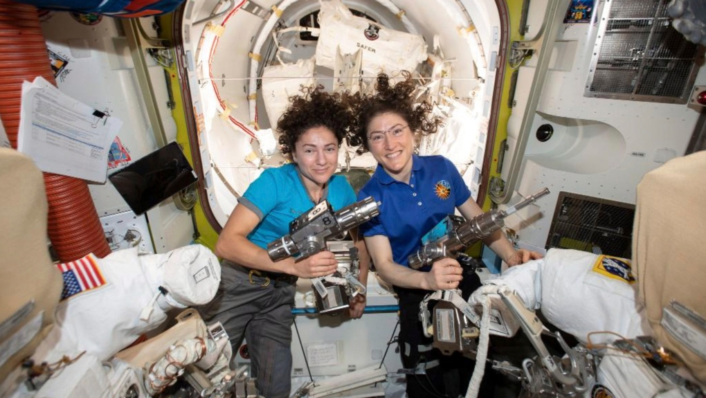 In first, spacewalk conducted by two women