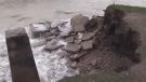 Erosion and flooding along Lake Huron shoreline