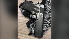A replica handgun