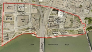 A tract of land downtown referred to as Parcel G could be the site of a new arena or convention centre.