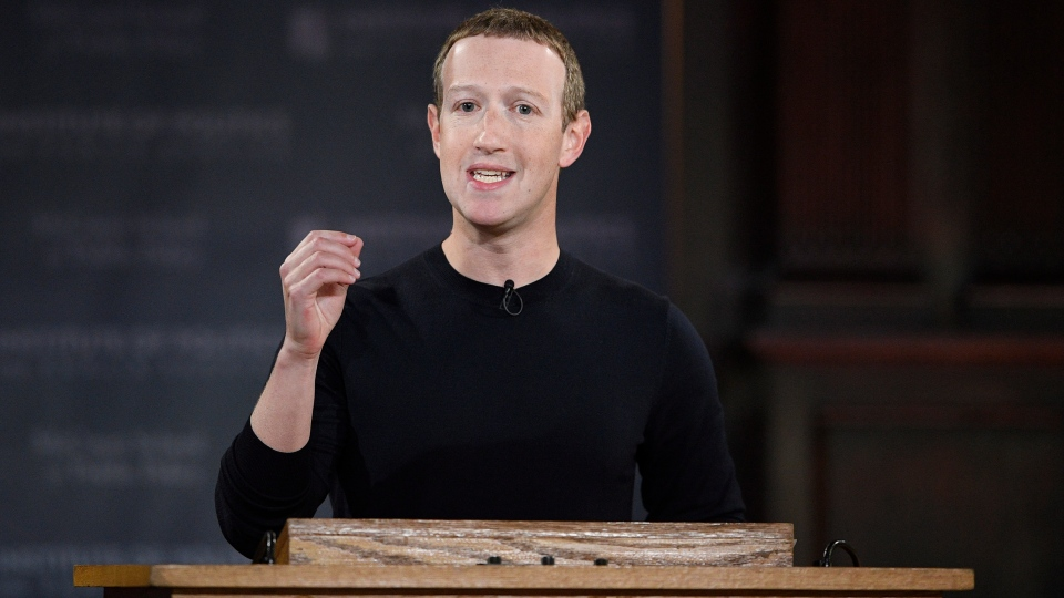 Facebook CEO Mark Zuckerberg speaks at Georgetown University, Thursday, Oct. 17, 2019, in Washington. (AP Photo/Nick Wass)