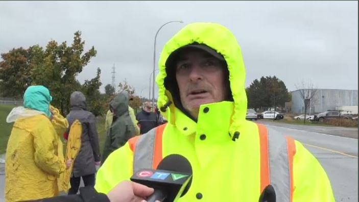 Workers at Saint John laundry facility stage protest