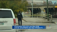 The Winnipeg police homicide unit is investigating after a man was found lying injured on Main Street. (CTV News Winnipeg)
