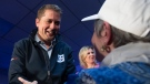 Conservative leader Andrew Scheer shakes hands with supporters during a campaign stop in Little Harbour, N.S. Thursday October 17, 2019. (THE CANADIAN PRESS/Adrian Wyld)