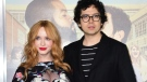 """Christina Hendricks arrives with Geoffrey Arend for the world premiere of the film """"Fist Fight"""" in Los Angeles on February 13, 2017. (Frederic J. Brown/AFP/Getty Images/CNN)"""