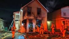 Overnight fire in Vanier
