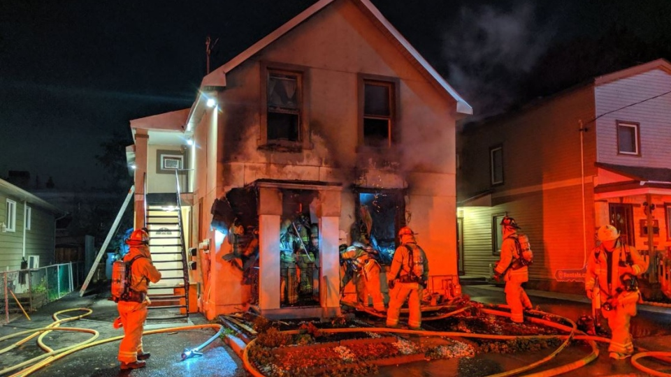 Overnight fire in Vanier