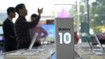 The world's biggest smartphone maker has touted the Galaxy S10's in-display fingerprint sensor as 'revolutionary.' (AFP)