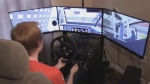 Keegan Leahy is able to compete from his Halifax home thanks to sim racing.