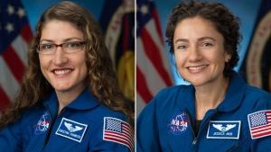 Jessica Meir and Christina Koch