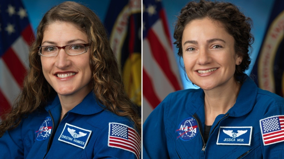NASA astronauts Jessica Meir and Christina Koch will conduct the first all-female spacewalk outside of the International Space Station. (NASA)