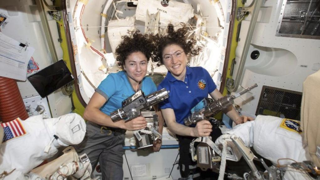 WATCH: The first all-female spacewalk is now underway