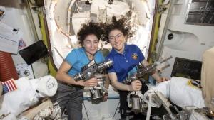 U.S. astronauts Jessica Meir and Christina Koch