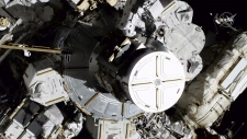 Koch and Meir exit the International Space Station